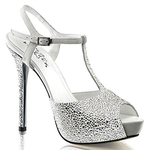 Heels-Perfect - Pantuflas de caña alta de cuero mujer blanco - multicolor