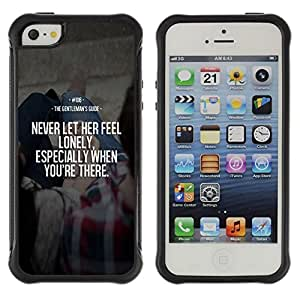 Suave TPU Caso Carcasa de Caucho Funda para Apple Iphone 5 / 5S / feel lonely her never love inspiring wife / STRONG