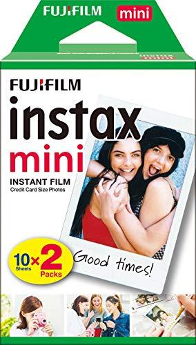 Fujifilm - Twin Films para Instax Mini - 86 x 54 mm - 10 hojas x 2 paquetes = 20 hojas
