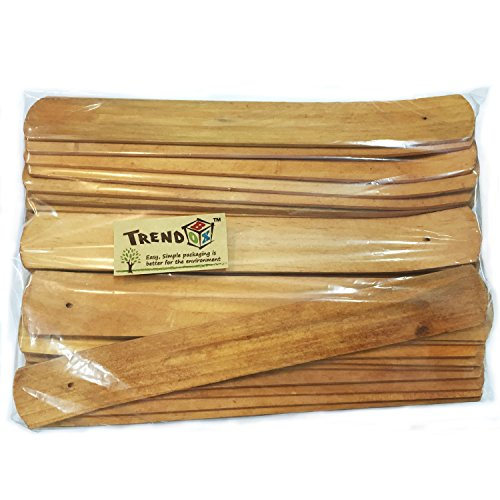 TrendBox 30pcs Handmade Plain Wood Wooden Incense Stick Holder Burner Ash Catcher Natural Design Buddhist by TrendBox (Image #7)