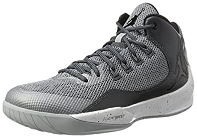 Nike Jordan Men's Jordan Rising High 2 Wolf Grey/Black/Dark Grey Basketball Shoe 7.5 Men US
