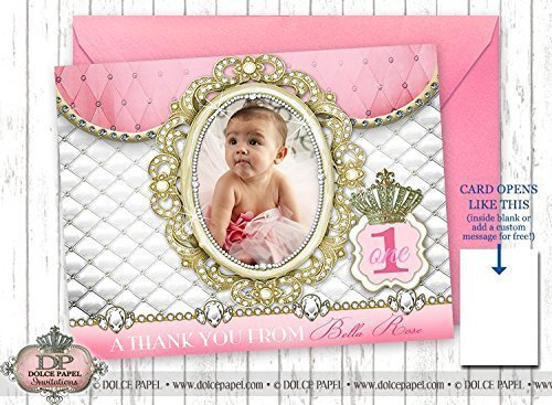 Amazon 10 Folding Thank You Cards Diamond Pink Princess