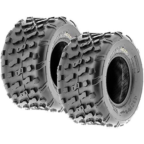 Set of 2 SunF 20x10-9 20x10x9 ATV UTV Knobby Rear Tire 4 Ply A022 by SunF (Image #1)