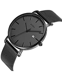 Men's Fashion Minimalist Wrist Watch Analog Deep Gray...