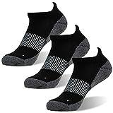 FOOTPLUS Men Women Boys Low Cut Moisture Wicking Antimicrobial Running Socks, 3 Pairs