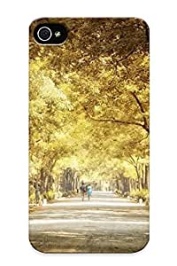 Chistmas' Gift - Cute Appearance Cover/tpu BCzgQzr3388DijfP Park In The Fall Case For Iphone 4/4s