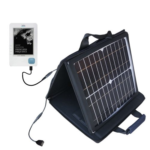 Gomadic SunVolt High Output Portable Solar Power Station designed for the Kobo eReader - Can charge multiple devices with outlet speeds by Gomadic