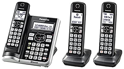 Panasonic Link2Cell BluetoothCordless Phone with Voice Assist and Answering Machine (Certified Refurbished)