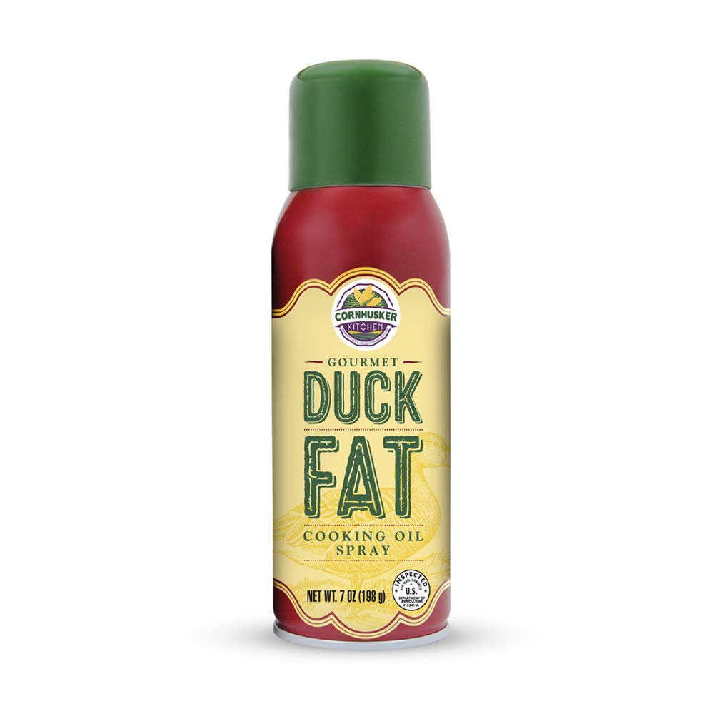 Cornhusker Kitchen Gourmet Duck Fat Spray Cooking Oil Bottle - All Natural Foods Gluten-Free Organic Lard Unsaturated Fat - 7oz (198g)        by Cornhusker Kitchen