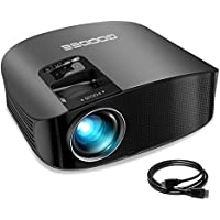 Projector, GooDee Video Projector 200 LCD Home Theater Projector Support 1080P HDMI VGA AV USB MicroSD for Home Entertainment, Party and Games