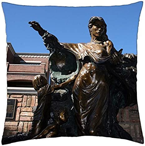 Amazon Com Custom Bronze Statue Throw Pillow Cover Case 18 Home Kitchen