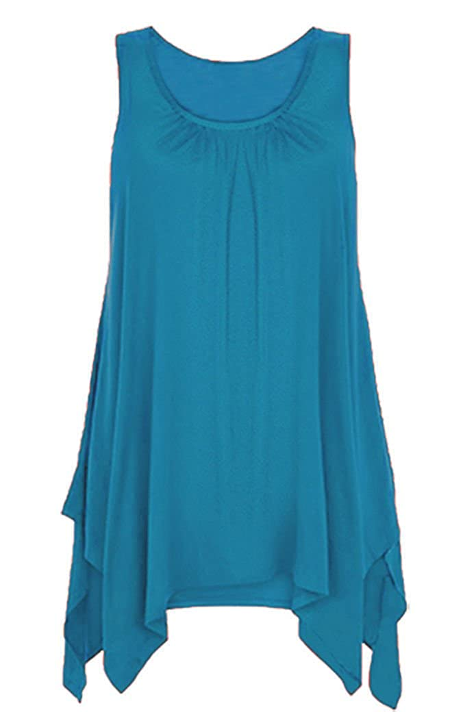 RSVH Kids Hanky Top Summer Asymmetric Gathered Girls Size 2-14 Vest Hem Flared