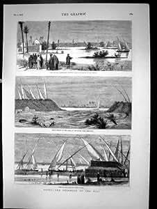 Nuevo Ferrocarril del Otomano de Siria de Haifa a las Ovejas 1893 de Damasco