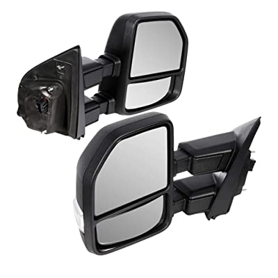 CTCAUTO Towing Mirrors Compatible with 2020-2020 Ford F250 F350 F450 Super Duty Tow Mirrors with Driver and Passenger Side Power Adjustment Heated with Turn Signal Light: Automotive