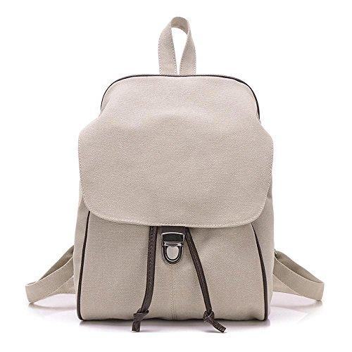 B sac sac double Aoligei rétro sac Mode sac dos Simple à toile à dos étudiants femmes Pure Voyage couleur wxUg1xYq