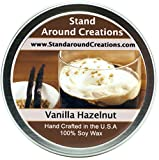 Premium 100% All Natural Soy Wax Aromatherapy Candle - 6oz. Tin: Scent - Vanilla Hazelnut. A mouthwatering blend of toasted hazelnuts and creamy vanilla. Naturally Strong, Highly Scented.each.