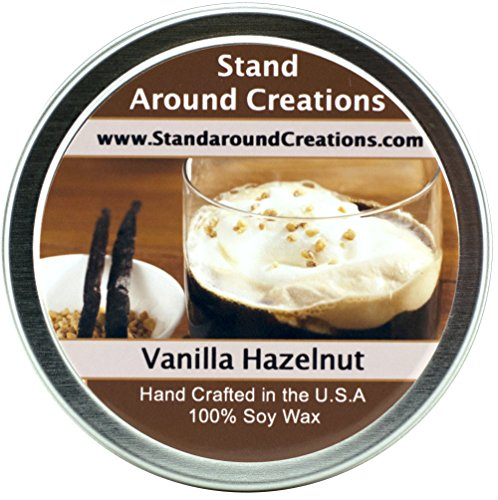 Premium 100% All Natural Soy Wax Aromatherapy Candle - 8oz. Tin: Scent - Vanilla Hazelnut. A mouthwatering blend of toasted hazelnuts and creamy vanilla. Naturally Strong, Highly (Hazelnut Tart)