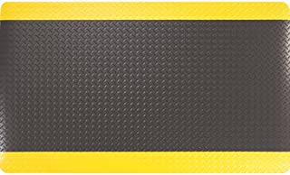 product image for Apache Mills MOI3906709033X10 - Diamond Plate Anti-Fatigue Mat - Dry, Solid Surface, Thickness: 9/16 in, Width: 3 ft, Length: 10 ft, Color Black/Yellow