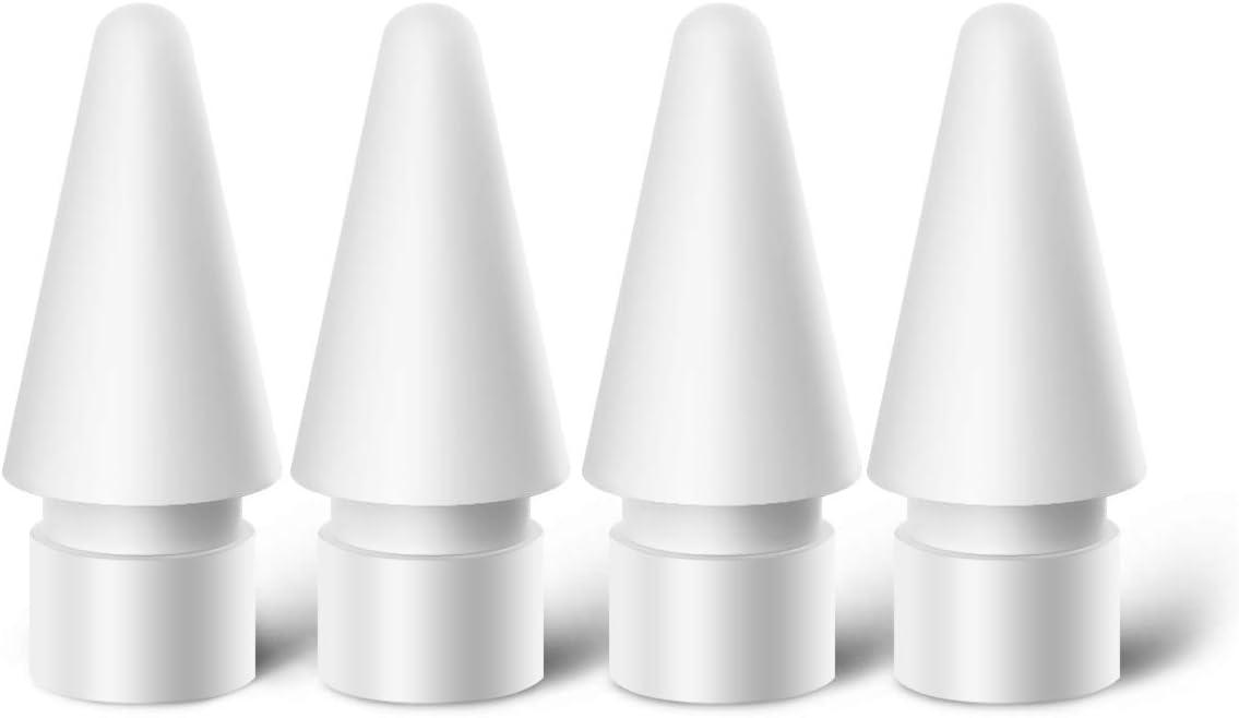 MJKOR Tips Replacement for Apple Pencil 1st Gen & 2nd Gen, Pen Nibs for iPad Pro 4 Pack