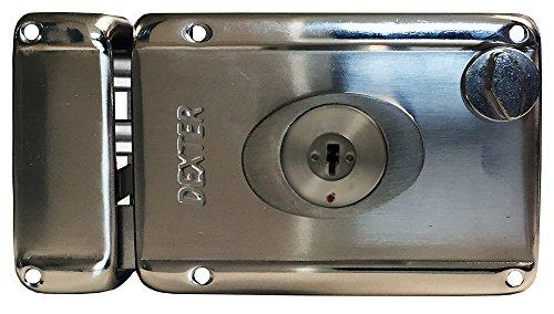 Dexter 6772 Cerradura de Sobreponer (Chapa de Parche) Automática de Llave de Alta Seguridad, Mecanismo de Barras