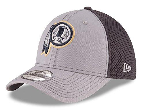 New Era NFL Washington Redskins Grayed Out NEO 2 39THIRTY Stretch Fit Cap, Medium/Large, Gray