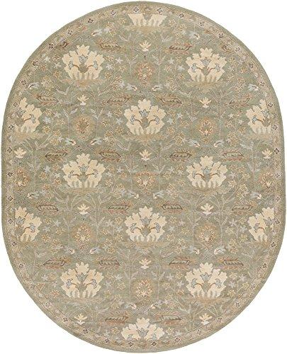 69ov Oval Rug By (Surya CAE1160-69OV Caesar Green Area Rug, 6' x 9' Oval, Dark Green/Khaki/Camel/Medium Gray/Tan)