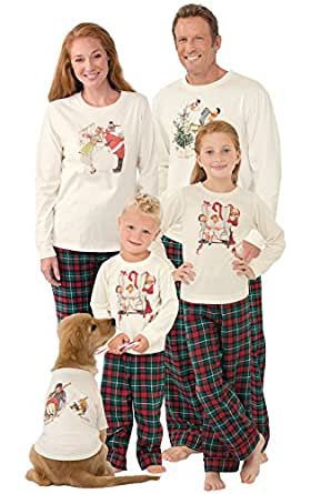 PajamaGram Norman Rockwell Christmas Matching Family PJs, Men XX-Large, Multi