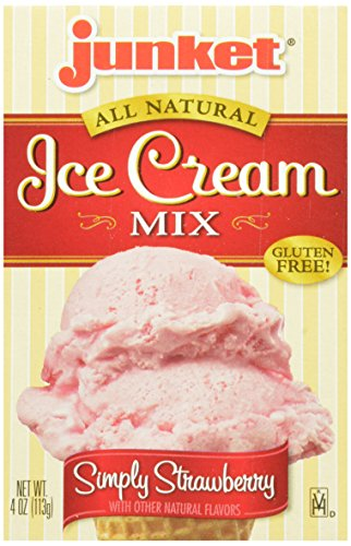 Junket Ice Cream Mix Strawberry, 4-Ounce (Pack of 12)