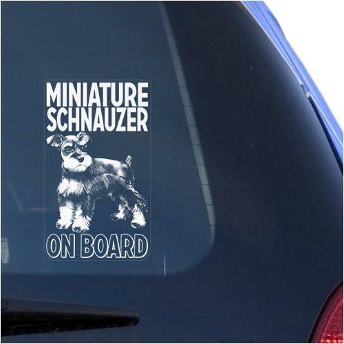 Miniature Schnauzer Clear Vinyl Decal Sticker for Window Zwergschnauzer Dwarf Dog Sign Art Print