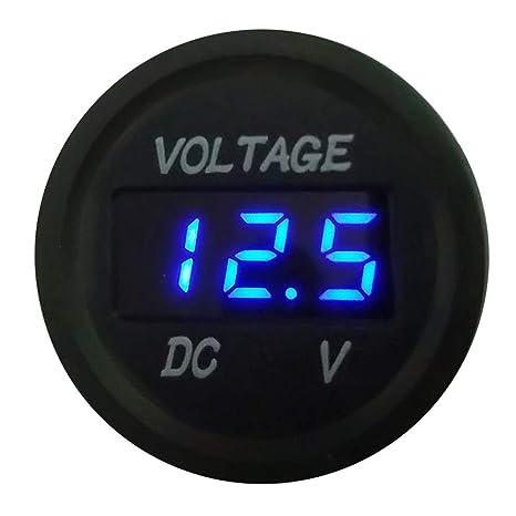 Mini Digital 12V Spannungsmesser Anzeige Voltmeter LED Panel für Auto Motorrad