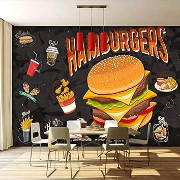 Guyuell Mural Personalizado Pintura Mural Hamburguesa Pollo Frito ...