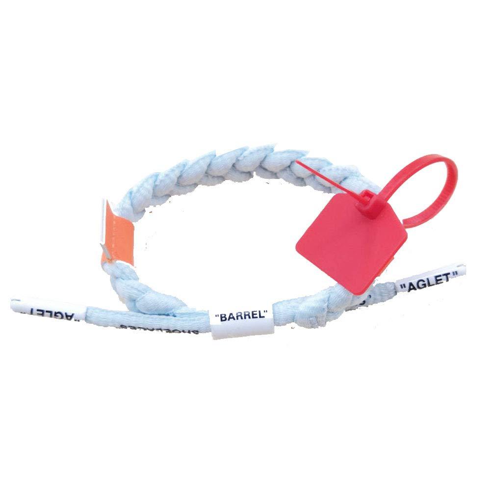 Lion Co-branded OW White Bracelet Limited North Card Blue Black White Couple Lace woven Bracelet