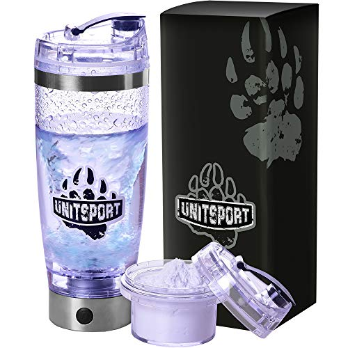 Protein Shaker Bottle - Shaker Cups for Protein Shakes - 20 oz Blender Bottle - Electric Portable Blender USB Rechargeable - Rechargeable Portable Vortex Mixer - Protein Storage Container - Gift Box