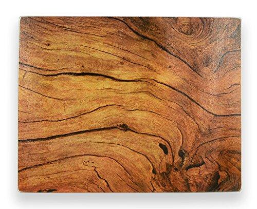 Brownlow Gifts Woodgrain Cross Section Glass Cutting Board