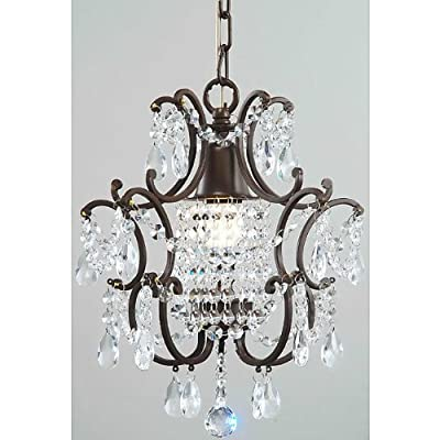 Jojospring Clear Crystal Brown Base Chandelier