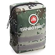120 Pieces First Aid Kit, Tactical Trauma Kit Reflective Stripe, EMT Pouch Molle medical first aid kit, Great for…