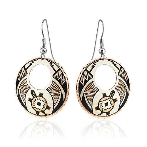 Turtle Earrings for Women, Girls Handcrafted from Copper in a Unique Turtle Design with Flair Southwest Native American Jewelry