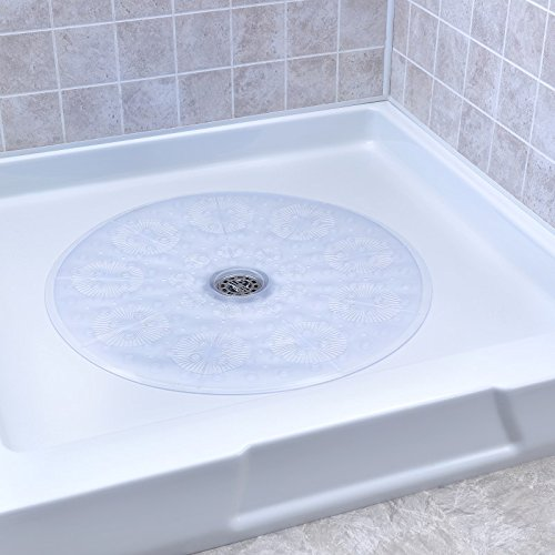 Round Shower Mat - SlipX Solutions Clear Round Shower Stall Mat Provides Reliable Slip-Resistance (23