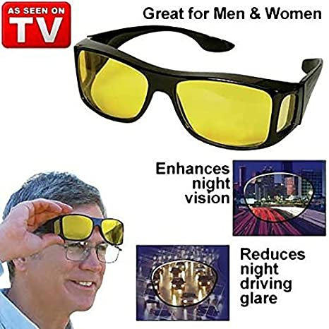 b10b1ba4248a Amazon.com: HD Night Vision Wraparounds Wrap Around Glasses by  TVTimedirect: Sports & Outdoors