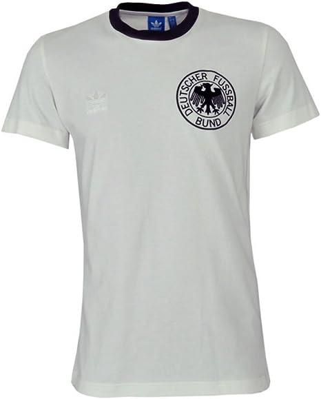 ADIDAS Camiseta Alemania 74 Fan para Hombre - Blanco/negro, 100% algodón, S - 46: Amazon.es: Deportes y aire libre