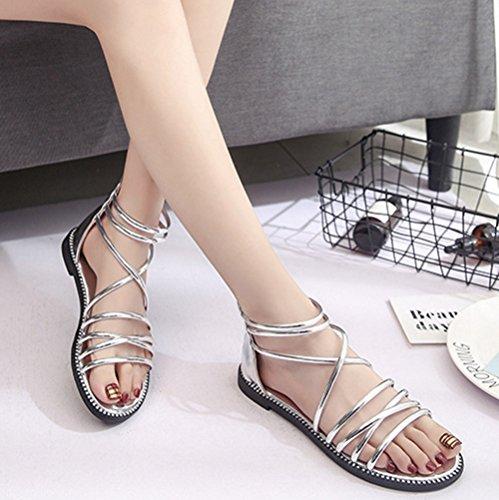 sandales femme accrues plateformes de toile denim ouvert orteil haut talon été mode lTsM6
