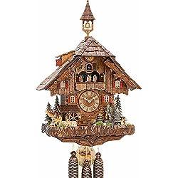 Cuckoo Clock Hunter's House, turning mill-wheel