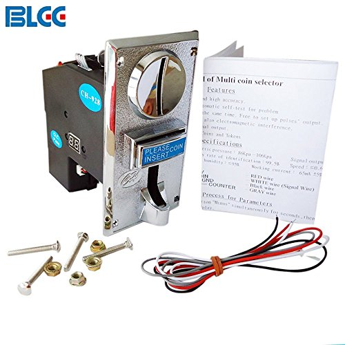 BLEE 8 Kinds of Coin Acceptor Token Support Multi Coins Selector for Coin Operated Game Vending Machine 1 Output (CH-928) by BLEE