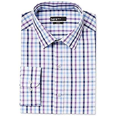 Bar III Men's Slim-Fit Stretch Easy-Care Patterned Dress Shirt