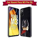 Fashionury Back Cover for Redmi Note 10T 5G/ Poco M3 Pro 5G Designer | Printed|Transparent |Flexible| Silicon -D043