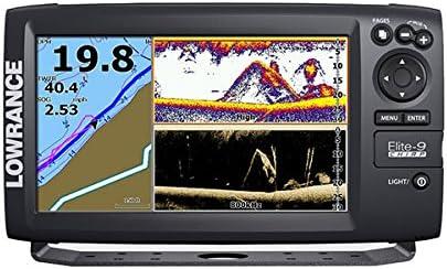 Lowrance GPS Plotter Sonda Elite-9 Chirp con transductor de Popa 50/200/455/800 KhZ: Amazon.es: Deportes y aire libre