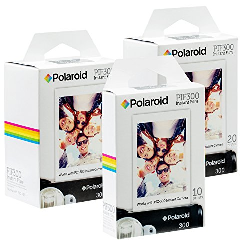 Polaroid PIF300 Instant Film - Designed for use with Fujifilm Instax Mini and PIC 300 Cameras (50 pack) (Film Polaroid Fuji Camera)