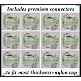 12 Pack-TRUE ANTIQUE DEPRESSION CRYSTAL GLASS Cabinet Knob Pulls, Vintage Styling from earlier period in American History. Includes a duplicate of the original connectors(Coke Bottle Green)