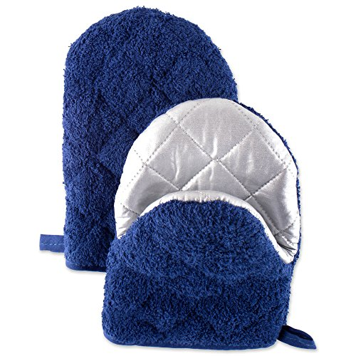 DII Cotton Terry Pinch Mitts, 7.5x5.5