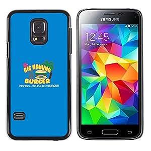 // PHONE CASE GIFT // Duro Estuche protector PC Cáscara Plástico Carcasa Funda Hard Protective Case for Samsung Galaxy S5 Mini, SM-G800 / Kahuna Burger - Tasty /